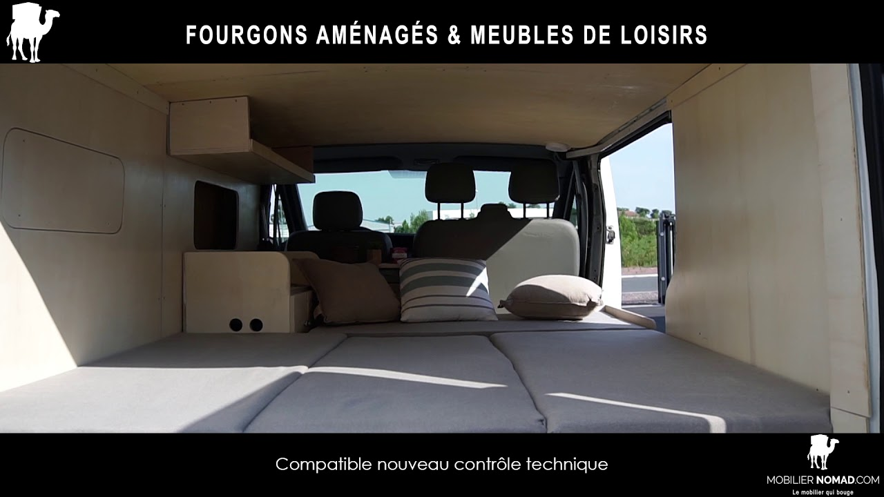 Mobilier Nomad Fourgons Amenages Youtube