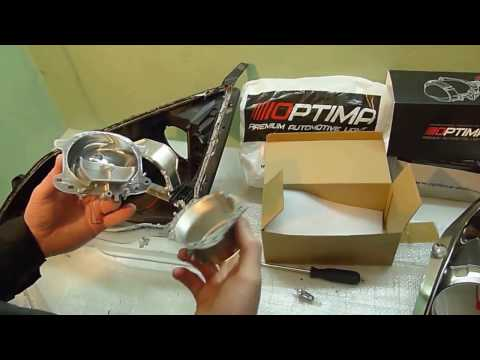 Honda CR-V III тюнинг фар  Установка светодиодных би линз Optima Premium Bi LED Lens 5100К 3 0