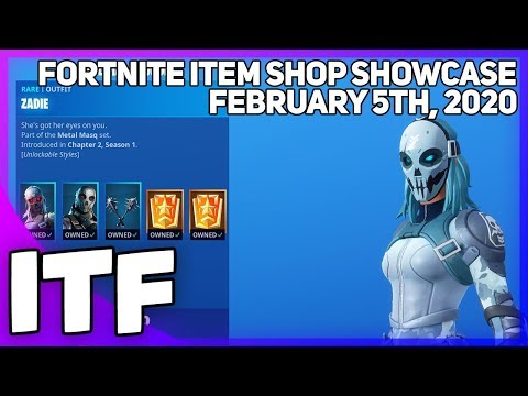 Fortnite Item Shop *NEW* METAL MASQ BUNDLE! [February 5th, 2020] (Fortnite Battle Royale)