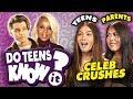 Do Teens Know Their Parent's First Celeb Crush?