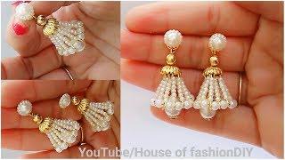 How To Make Beaded Earrings  Beaded Jumkies  Head pin earrings