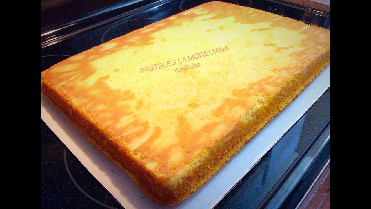 como hacer un pan esponjoso para pastel