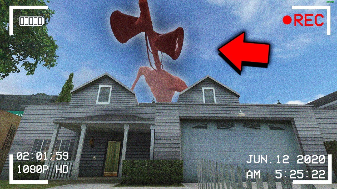 SIREN HEAD KEEPS VISITING MY HOUSE AT NIGHT.... - Garry's Mod Gameplay