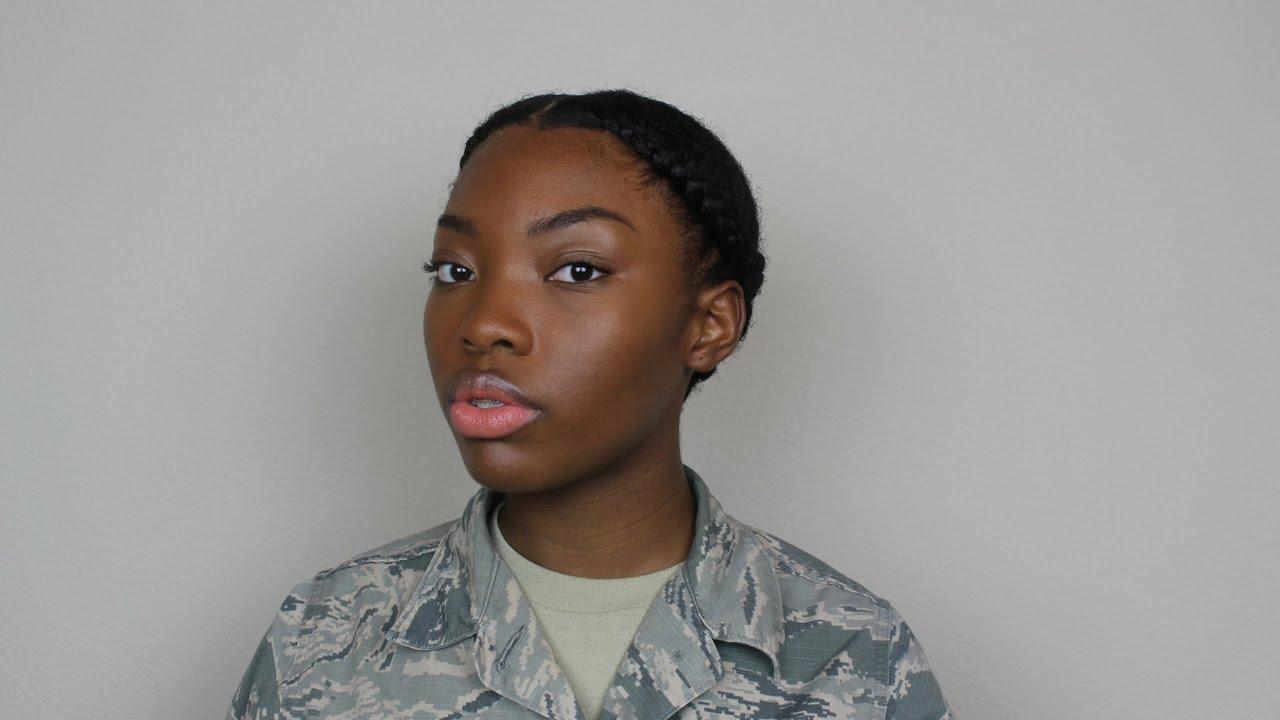 natural hair military professional
