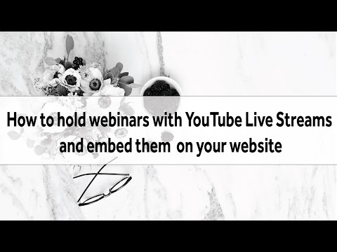 How to hold a webinar with YouTube Live Stream Events and embed on your WordPress site