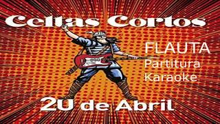 20 abril Flauta con notas y partitura CELTAS CORTOS
