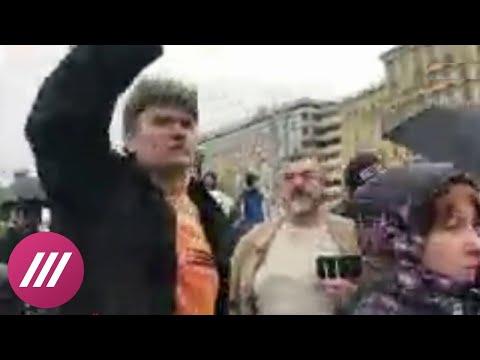 Активисты SERB пришли на акцию Навального в Москве