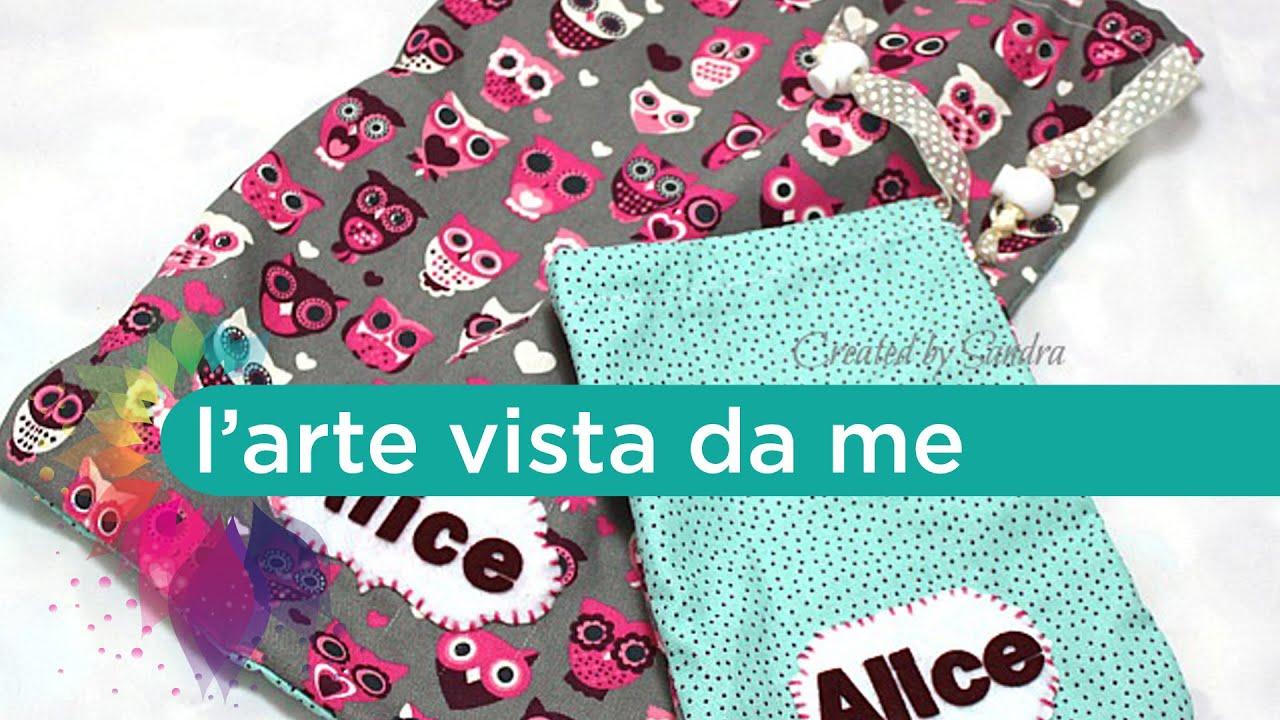 Favoloso Cucito creativo:sacca asilo tutorial-Cucire sacchetto con laccetti  NA86