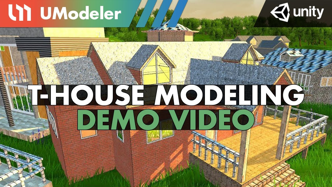 T-House Modeling with UModeler in Unity