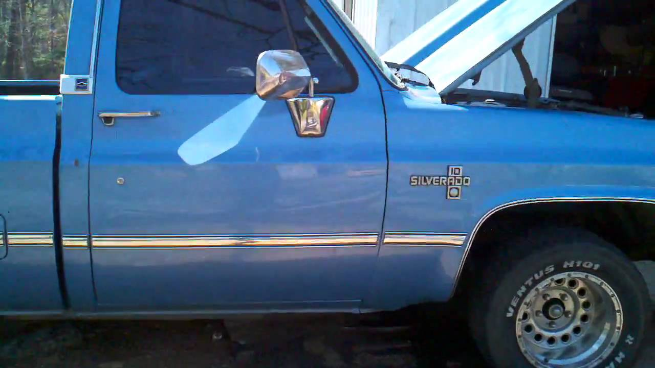 1986 chevy C-10 (for sale) lots of extras - YouTube