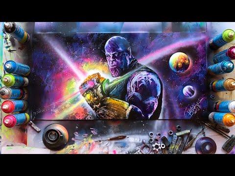 Thanos Avengers Infinity War Spray Paint Art