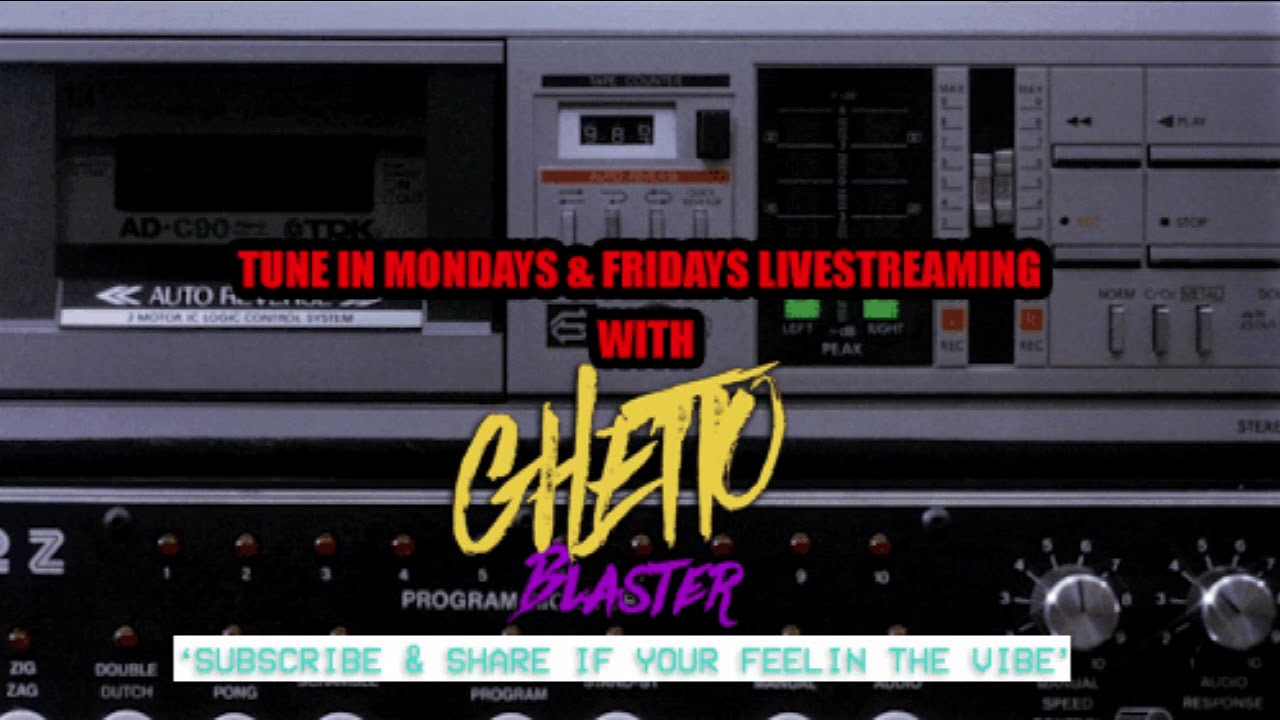 GHETTOBLASTER RADIO LIVESTREAM | MONDAYS & FRIDAYS | NEW JACK SWING - R&B - DISCO - FUNK