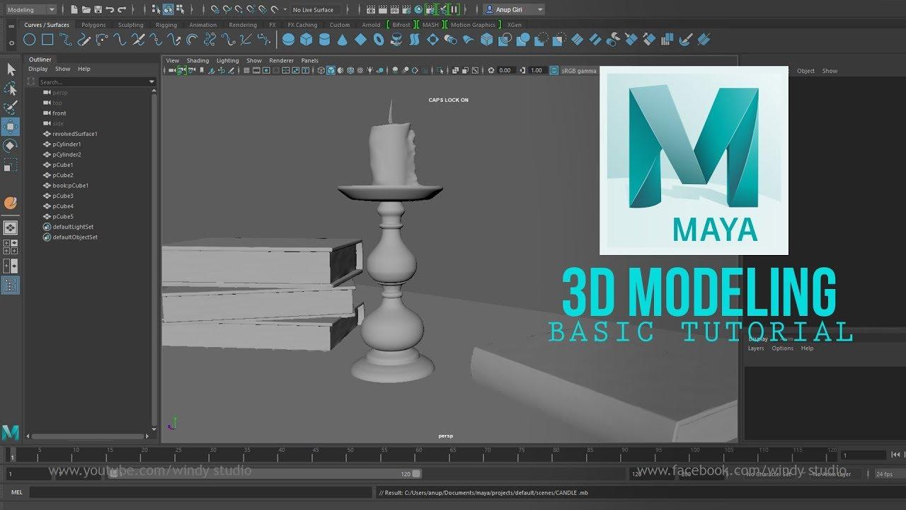 Modeling 3d Object in Autodesk Maya 2018 l Basic Tutorial - YouTube