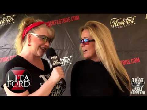 Lita Ford - Interview at Rockfest 80s
