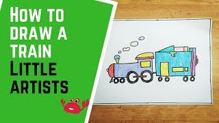 How to draw a train | Little artists