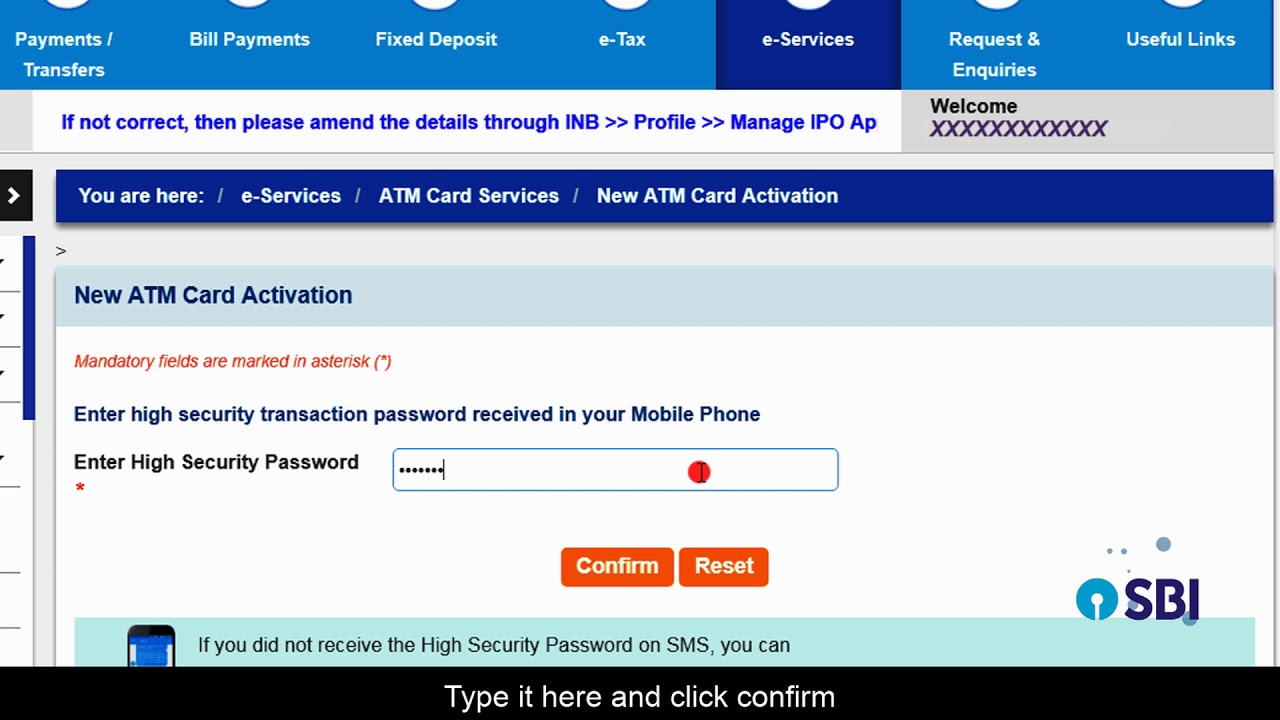 How Do I: Activate New ATM Card Online