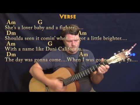 Dani California (RHCP) Guitar Lesson Chord Chart with Chords/Lyrics