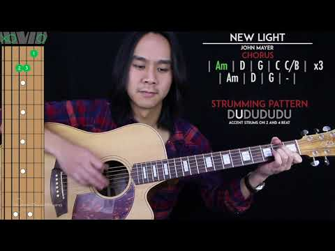 New Light Guitar Cover Acoustic - John Mayer  🎸 |Tabs + Chords|