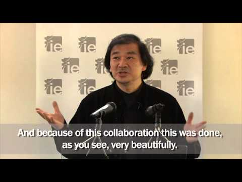 IE Paper Pavilion - Shigeru Ban - Inauguration Speech - YouTube