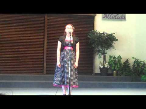 Allison, age 12, singing 'Cross the Wide Missouri