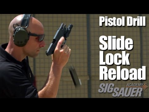 Pistol Drill: Slide Lock Reload and Shooting on the Move - Shooting Tips from SIG SAUER Academy