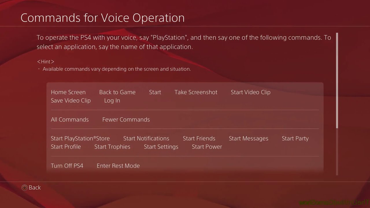 How to find all PS4 Enhanced Voice Commands PS4 2 0 Update, Masamune PS4  Menu Interface Tips & Trick