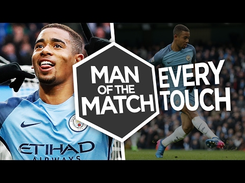 GABRIEL JESUS V SWANSEA CITY | Every Touch | Man of the Match | City 2-1 Swansea