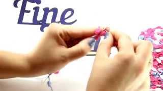 Видеоурок вязания от Fineyarn #3 Как вязать из помпонной пряжи