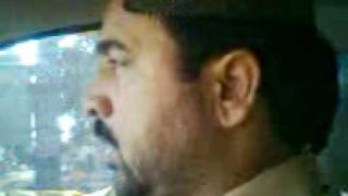 Ahmed ali hakim in car(mehboob)