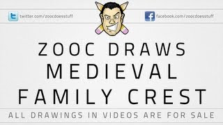 ♦ Zooc Draws - Medieval Family Crest (Tattoo Commission)
