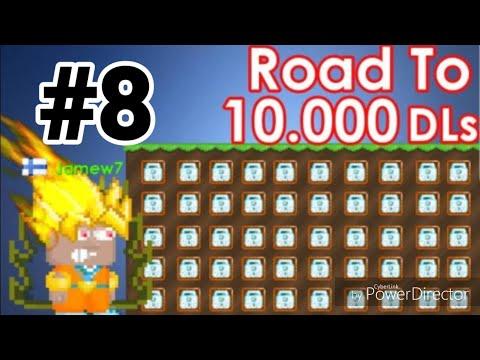 Road To 10,000 DLS #8 ( I GOT 5600 DLS! ) - Growtopia