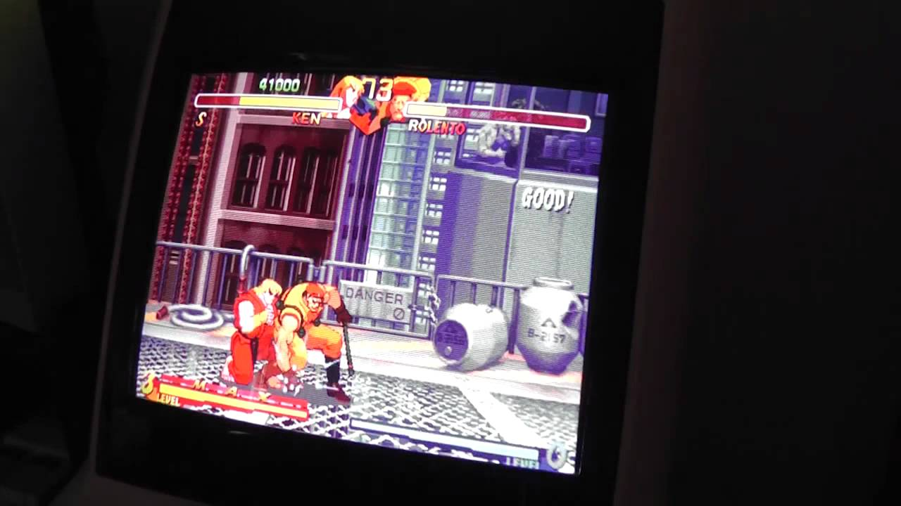 Street Fighter Alpha 2 Cps2 On Sega Astro City Arcade Cabinet