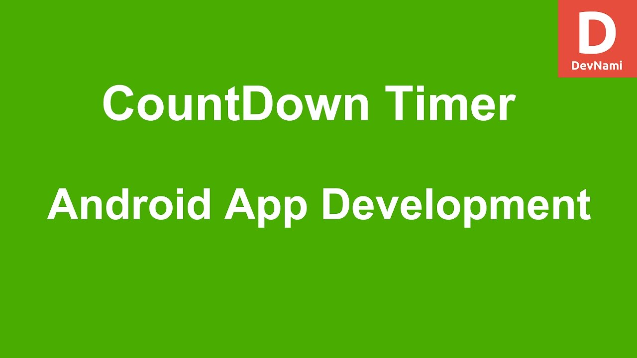 Android CountDown Timer by DevNami