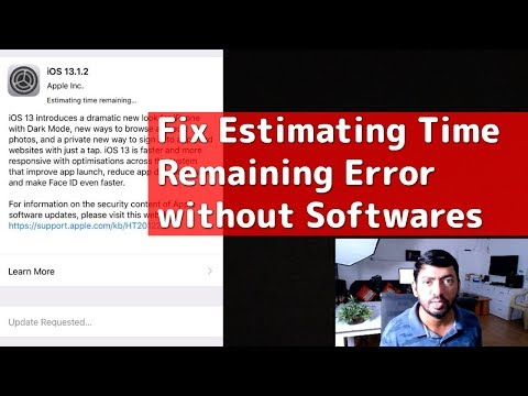 Fix Estimating Time Remaining / Update Requested Errors in iPhone and iPad