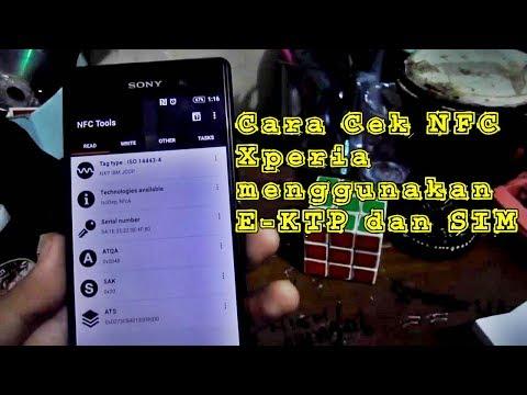 Cek Nfc Xperia Menggunakan E Ktp Dan Sim Youtube