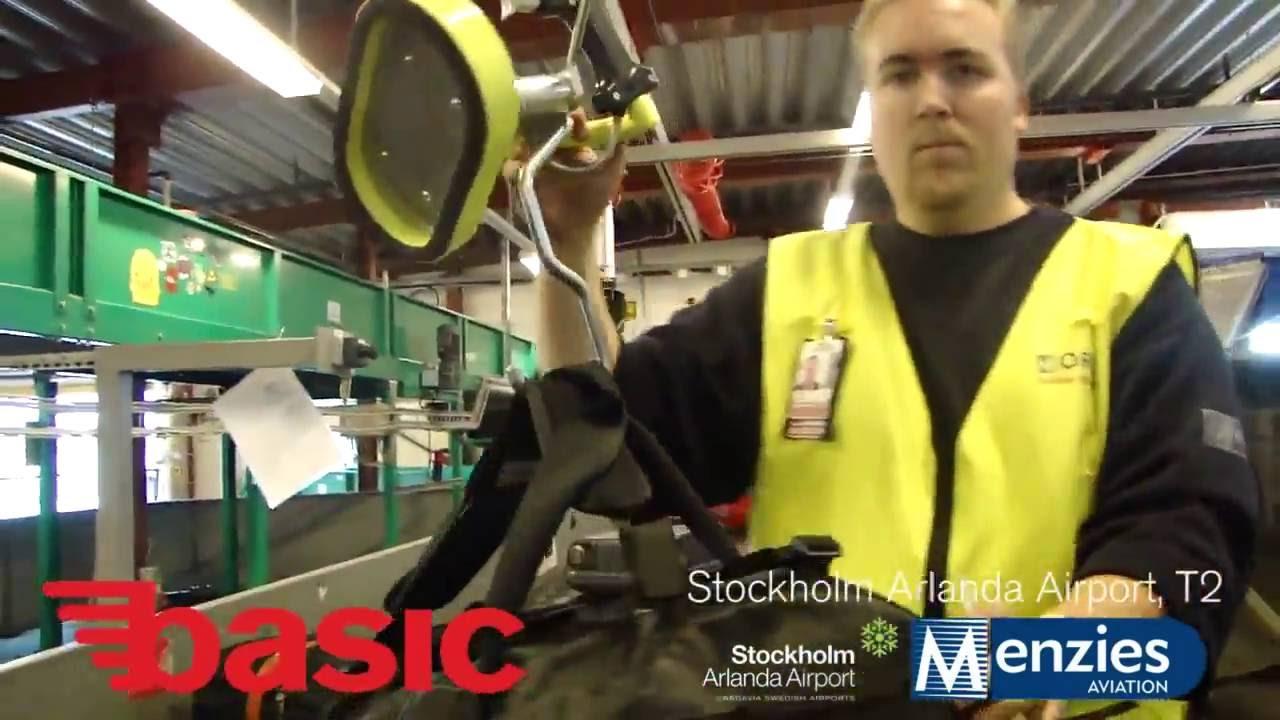 Manipulador ergonómico para los equipajes en aeropuertos
