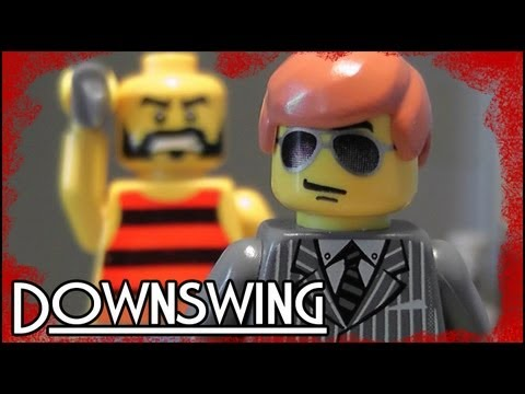 Lego мультфильм DownSwing - криминальный боевик из Лего