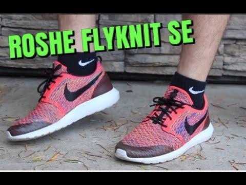 215d2232d2967 Nike Roshe NM Flyknit SE Green Strike ON FEET! - YouTube