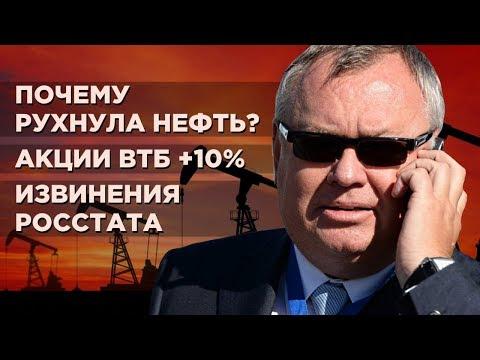 Обвал нефти, взлет акций ВТБ, ошибка Росстата, Brexit / Новости экономики
