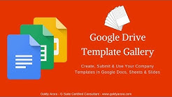 Google Docs Template Gallery - Submit & Use Your Own Company Templates