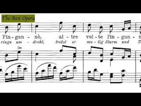 Lascia il lido, Lesson 2.1  (Nicola Vaccai) score animation, Soprano/Tenor, Karaoke