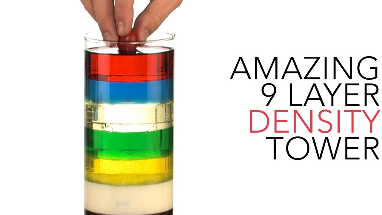 hight resolution of Amazing 9 Layer Density Tower - Sick Science! #012 - YouTube