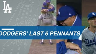 A look back at the Dodgers' last six pennants