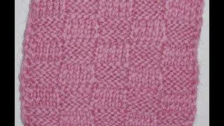 В'язання спицями. Узор Шахове плетіння