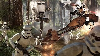 Star Wars Battlefront in 4k Speederbike Chase on Endor
