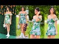 Kendall Jenner floral summer dress outdoor fashion at Veuve Clicquot's Polo Classic
