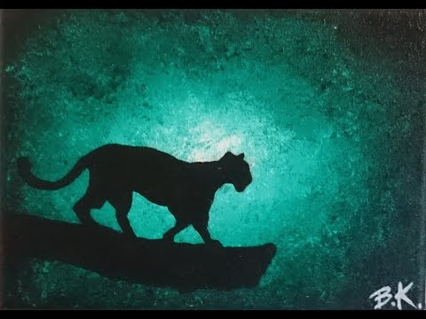 Jaguar in rainforest - Turquoise sunrise - SPEED PAINTING