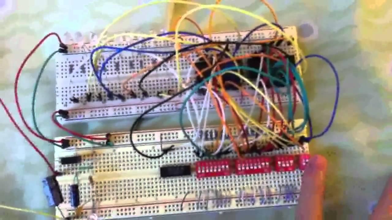 8 Bit Alu Youtube Circuit Diagram Of