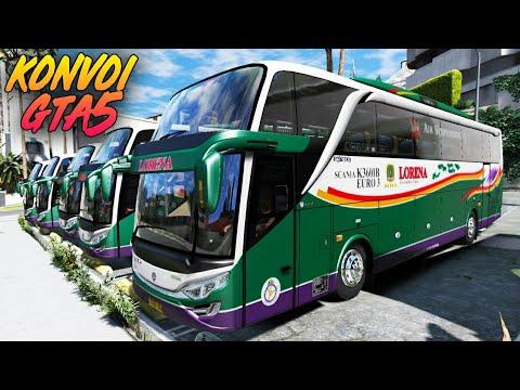 Liar!! Konvoi BUS Lorena SHD - GTA 5 Bus Indonesia