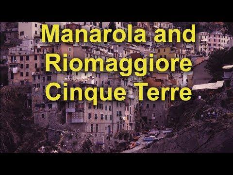 Manarola, and Riomaggiore, Cinque Terre, Italy